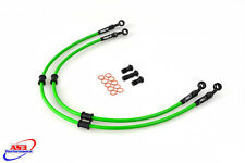 KAWASAKI ER6 F N 2006-2016 AS3 VENHILL BRAIDED FRONT BRAKE LINES HOSES