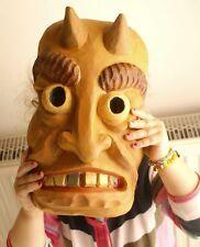 Krampus Maske Kindermaske Fasnacht Maske Wandmaske handgeschnitzte Holzmaske