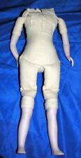 NEW REPRODUCTION REPLACEMENT BOUDOIR VICTORIAN DOLL BODY, BISQUE ARMS, LEGS 12""
