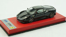 1/43 BBR FERRARI F430 SCUDERIA GLOSS BLACK ON RED LEATHER BASE MR