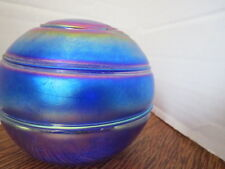 "ART STUDIO Large IRIDESCENT ""Witch Ball"" BLOWN GLASS Purples & Blues COSMIC!"