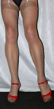5 pairs Natural Tan Sheer 15 Denier Stockings Large