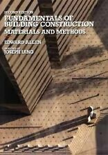 Fundamentals of Building Construction: Materials and Methods, Allen, Edward, Goo