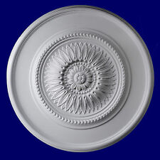 Ceiling Medallion 24 inch R306 Gaudi Decor Primed White round canopy big dome