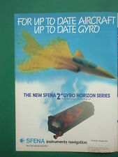 8/1986 PUB NEW SFENA 2 GYRO HORIZON SERIES INSTRUMENT NAVIGATION ORIGINAL AD