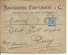6-10-1906 c. 25 FLOREALE n° 73 DA TORINO PER BURY - LANC GRAN GRETAGNA