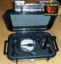 In Ear Monitor Case w/ Moisture Removal for Shure, Westone, Fender Earphones
