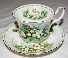 Royal Albert Flower of the Month MAY Cup and Saucer Lily of the Valley Set