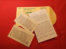 Champ Decals HO HD-9 Caboose & Camp Car Black Lettering NOS New Old Stock A8