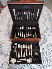 113 pc. FANTASTIC 1847 ROGERS BROS SILVERPLATE ANCESTRAL FLATWARE & HIGHEND CASE