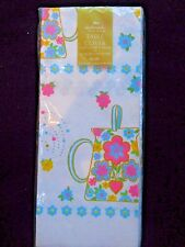 Vintage Hallmark Plans  Party Paper Table Cover/Shower Spring Easter Tablecloth