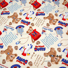 140*100cm Duffy Bear Pattern Cotton Sewing Fabric DIY Handmade Material For Baby