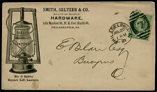 """SMITH, SELTZER & Co. HARDWARE"" 1888 #213 ILLUSTRATED ADVT COVER BQ2669"