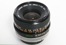 Canon FD 28mm f3.5 SC Lens S.C. - Breech Mount