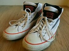 CONVERSE STAR Alta Hi Top de Superdry ALL UK 8 EU 41.5 cm 26.5 Blanco Unisex Usado