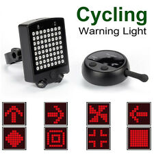 64 LED Bici Bicicleta Trasera Laser Indicador Turn Signal Light Wireless Remote