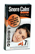 Snore Calm ELITE Foam Ear Plugs (7 Pairs) 37db Noise Reduction Rating