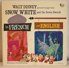 Walt Disney Snow White and the Seven Dwarfs Songs in French and English on Vinyl