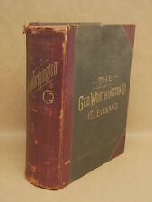 Antique 1902 Geo Worthington Catalog Book Tools Guns Knives Hardware Very Large