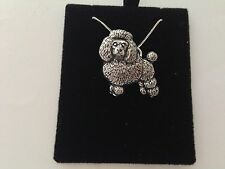 D3   Poodle  on a 925 sterling silver Necklace Handmade 30 inch chain
