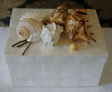 Capiz Shell Beautiful HANDMADE Trinket Jewelry Gift Beauty Box - White
