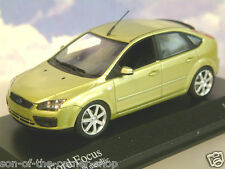 MINICHAMPS 1/43 DIECAST 2004 FORD FOCUS IN EXOTIC YELLOW METALLIC 400 084002