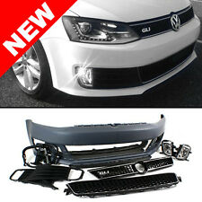 VW JETTA MK6 SEDAN GLI STYLE FRONT BUMPER CONVERSION KIT W/ CHROME TRIM GRILLES