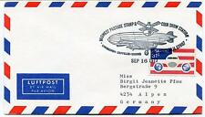 1977 Lindbergh Zeppelin Viking Midwest Postage Stamp Show Chicago USA NASA