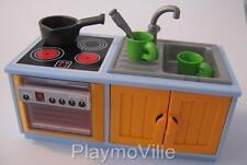 Playmobil Kitchen sink & cooker unit NEW extras for Modern dollshouse