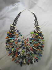 Native American necklace Navajo 10 strands Fetish Necklace heshe bead Stunning