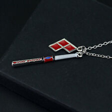 Harley Quinn Shield Charm Clown Baseball Pendant Necklace For Suicide Squad