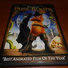Puss in Boots (DVD, 2012) Animated Used