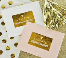 9 Gold Foil Will You Be My... Bridal Party Bridal Shower Favor Labels
