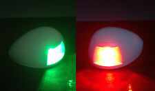 MARINE BOAT GREEN STARBOARD RED PORTSIDE LED NAVIGATION LIGHT HORIZONTAL MOUNT