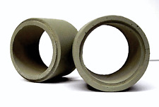 2 CONCRETE PIPES LOAD w-mounts 32mm Dia.Freight Flat Car HO 1/87 Scale JWD 11235