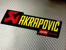 Adesivo Sticker AKRAPOVIC APRILIA Racing Alte Temperature High Temperatures