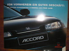 Prospekt Sales Brochure Honda Accord  Car 1994 Technik Auto  автомобиль