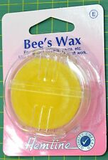 Hemline Bee's Wax For waxing Threads, Yarns, Use For Quilting, Sewing, Craft etc