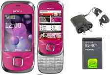 New Condition Nokia 7230 Unlocked Slide 3G mobile phone 3.2MP Bluetooth Hot Pink