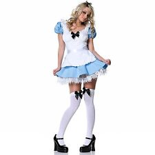 Alice in Wonderland Disney Fairytale Storybook Womens Fancy Dress Party Costume