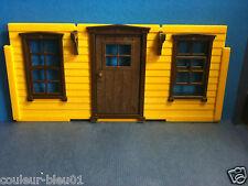 PLAYMOBIL Western -Encadrement marron +fenêtre pour maison ancienne (façade non)