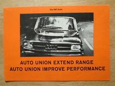 AUDI 80 & super 90 ORIG 1966-67 UK MKT la brochure commerciale-auto union
