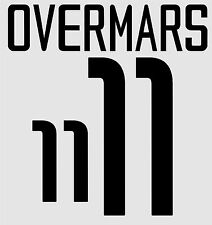World Cup 2002 Overmars 11 Home Holland Football Name set  for National shirt