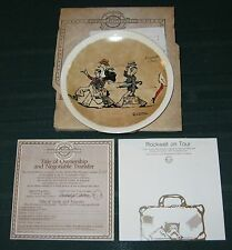 "Newell Pottery Norman Rockwell on Tour ""Promenade a Paris"" Plate"