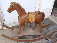Schauckelpferd von 1850mit orig.Pferdefell+Schweif+Sattel Höhe=88cm Länge=124cm