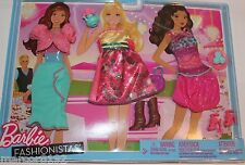 Barbie Doll Fashionistas Clothing Party Pack 3 Fashions Oufits new
