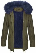 New Ladies Long Sleeve Fur Sherpa Hooded Coats Fleece Neck Parka Winter Jackets