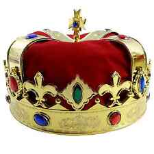 Royal Jeweled Kings Crown - Costume Accessory