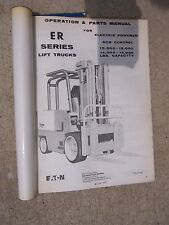 1972 Yale Lift Truck ER Series Maintenance Parts Manual Electric SCR Operation F