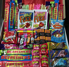 Mega Valentines Birthday Exams Hamper Box Retro Sweets Party Personalised Gift
